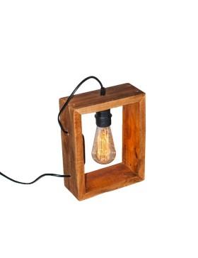 Lámpara de madera cuadrada...