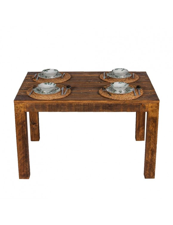 Mesa Comedor Rústica de madera maciza reciclada 120x80 para interior y  exterior