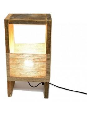 Lámpara de madera estilo...